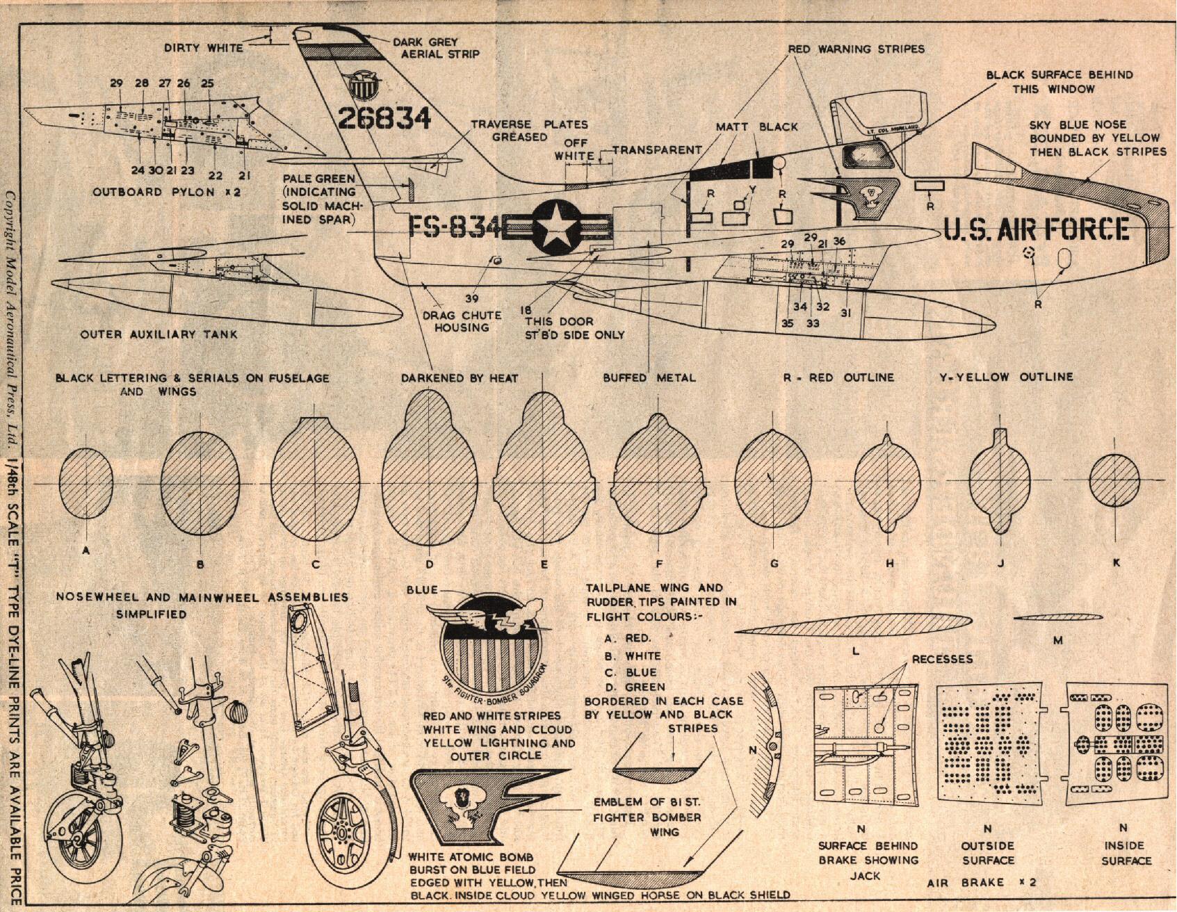 F-84f-tekening